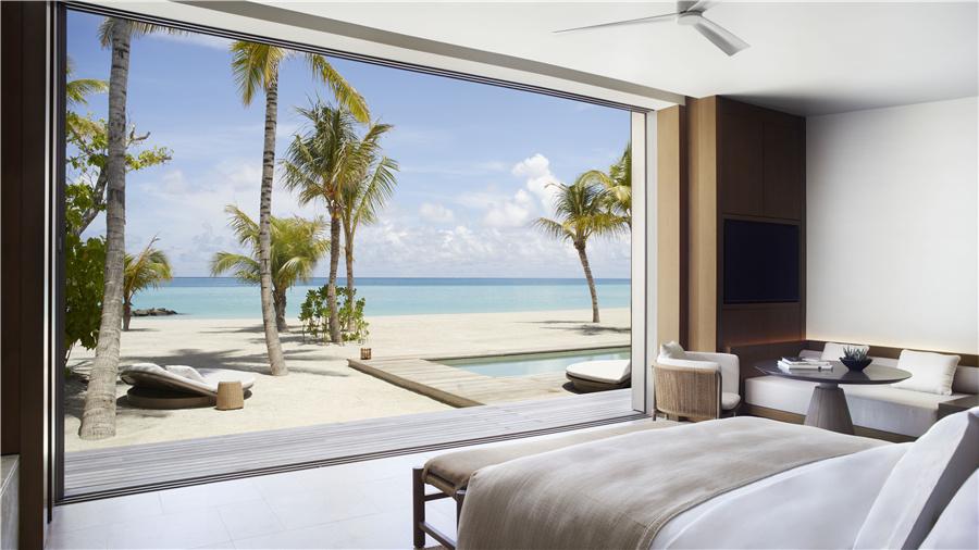 马尔代夫丽思卡尔顿酒店_双卧室沙滩泳池别墅